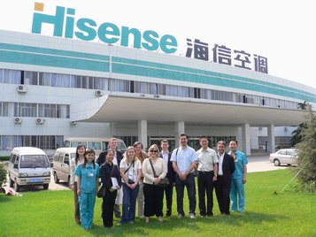 DPO Guests From France Visited Hisense