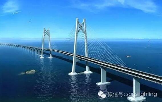 港珠澳大桥工程,采用多项LED顶尖技术