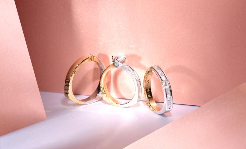 钻石小鸟新品TRIMARK系列 让婚戒特立不独行