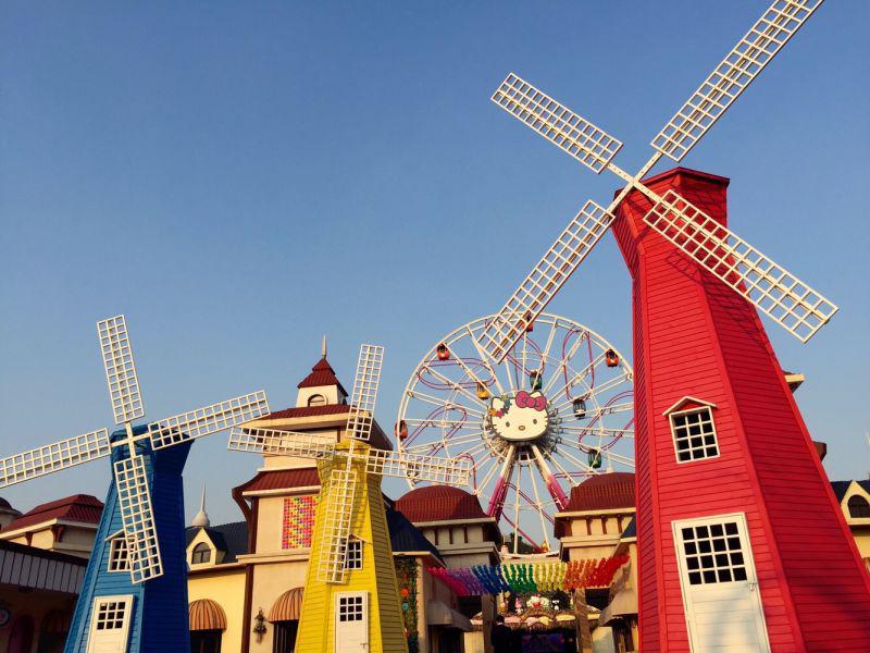 四海八荒都来杭州Hello Kitty乐园看风车啦