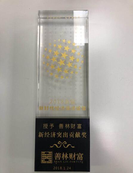 """善林财富荣膺""""新经济突出贡献奖""""大奖"""