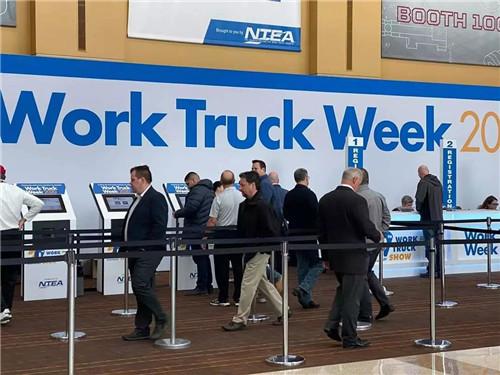 美国工程车辆装备展上演示了威盛Mobile360 D700 车载双向监控一体机