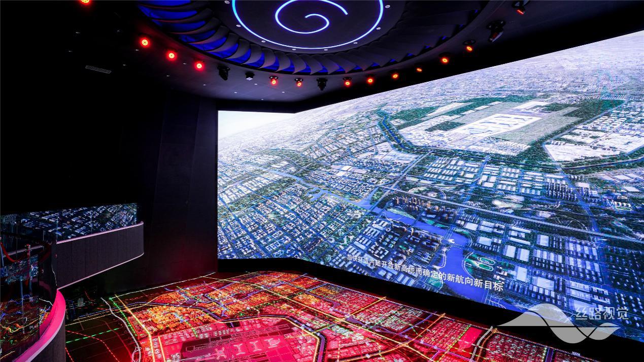 丝路视觉出品,郑州航空港实验区城市会客ω 厅,多元的航空芯城墨麒麟看著金烈略微�@�