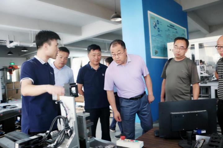 天水师范学院院长安涛教授一行莅临安博智能制造实践基地参观考察